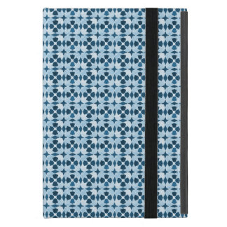 Modelo marroquí azul de la simetría iPad mini fundas