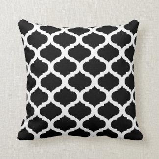 Modelo marroquí blanco y negro almohada