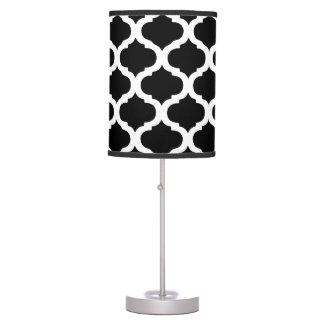 Modelo marroquí blanco y negro lámpara de mesilla de noche