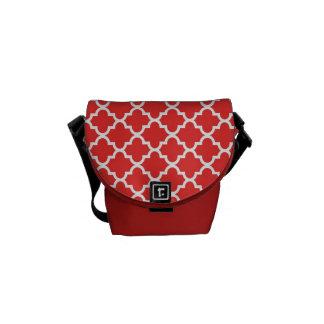 Modelo marroquí de la teja del rojo de ladrillo de bolsas messenger