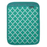 Modelo marroquí de la teja del verde esmeralda de  manga de iPad