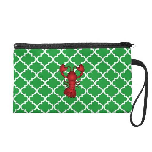 Modelo marroquí del enrejado del verde rojo de la