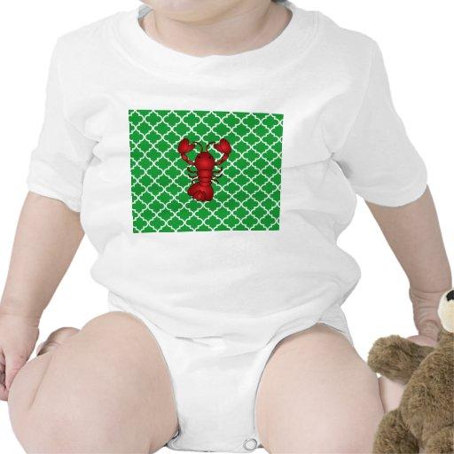 Modelo marroquí del enrejado del verde rojo de la traje de bebé