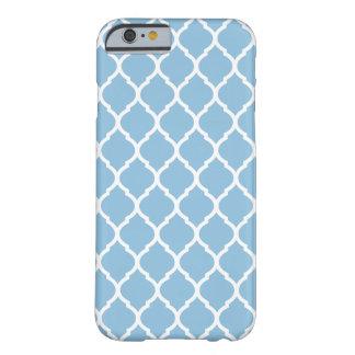 Modelo marroquí elegante del enrejado del azul de funda de iPhone 6 barely there