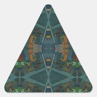 Modelo masculino entonado calentado moderno pegatina triangular