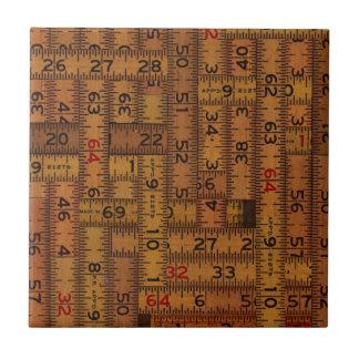 Modelo medido regla antigua azulejo cuadrado pequeño