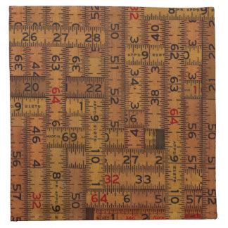 Modelo medido regla antigua servilleta