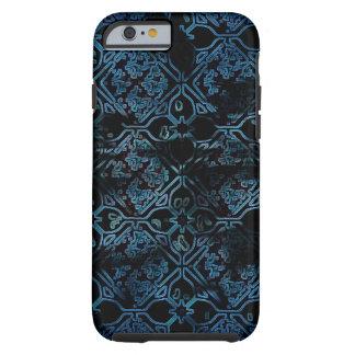 Modelo medieval del Grunge azul Funda Resistente iPhone 6