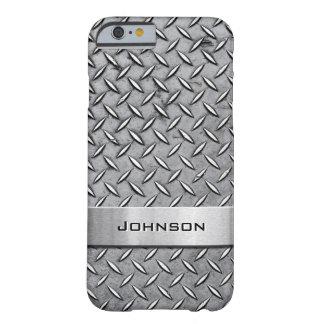 Modelo metálico cortado diamante superior fresco funda de iPhone 6 barely there