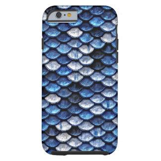 Modelo metálico de las escalas de pescados del funda resistente iPhone 6
