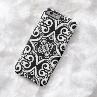 Modelo mexicano caja negra y blanca del | de la funda para iPhone 6 barely there