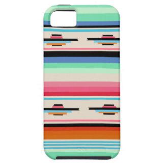Modelo mexicano retro colorido de la materia iPhone 5 fundas