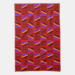 Modelo mexicano rojo de lujo toallas de cocina