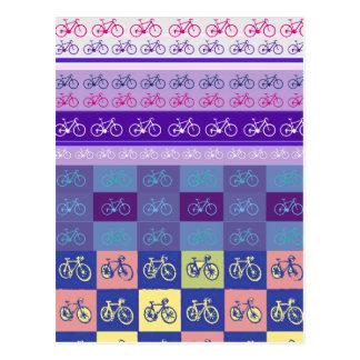 modelo mezclado de la bici tarjetas postales