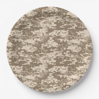 Modelo militar clásico de Digitaces Camo Platos De Papel