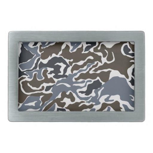 Modelo militar del camuflaje - gris hebilla de cinturón