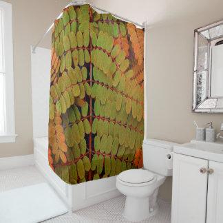 Modelo minúsculo de las hojas cortina de baño