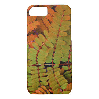 Modelo minúsculo de las hojas funda iPhone 7