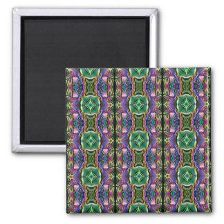Modelo místico azul púrpura verde del diamante del imán cuadrado