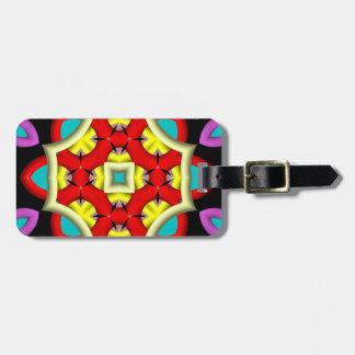 Modelo moderno abstracto colorido etiquetas para maletas
