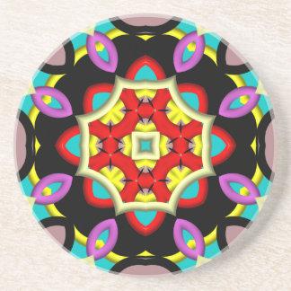 Modelo moderno abstracto colorido posavasos personalizados