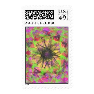 modelo moderno abstracto colorido sellos