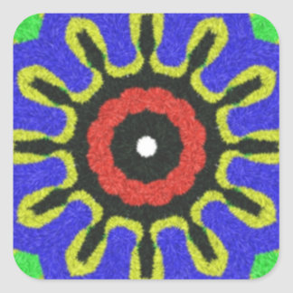 Modelo moderno abstracto pegatina cuadrada