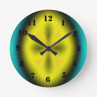 Modelo moderno abstracto reloj redondo mediano
