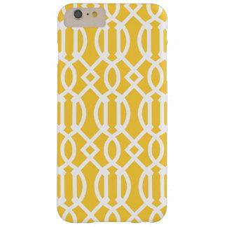 Modelo moderno amarillo del enrejado funda barely there iPhone 6 plus