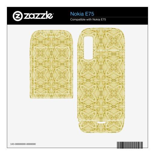 Modelo moderno amarillo skin para el nokia e75