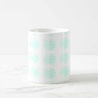 Modelo moderno apenado del copo de nieve del taza