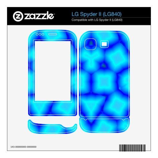Modelo moderno azul LG spyder II skins