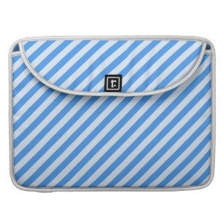 Modelo moderno azul y blanco de moda de las rayas funda para macbook pro