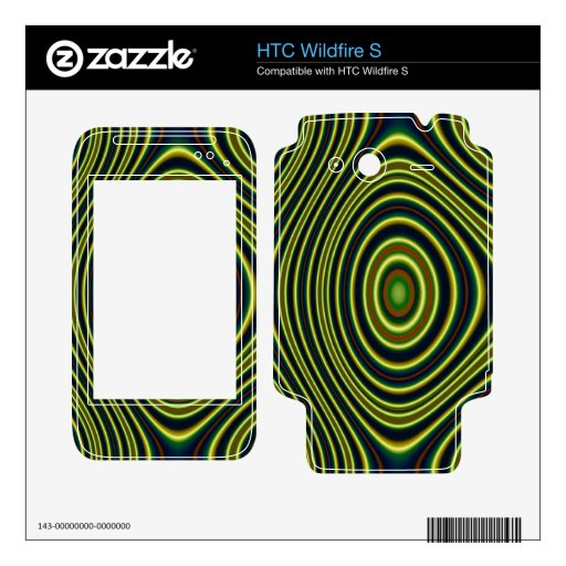 Modelo moderno colorido HTC wildfire s calcomanías