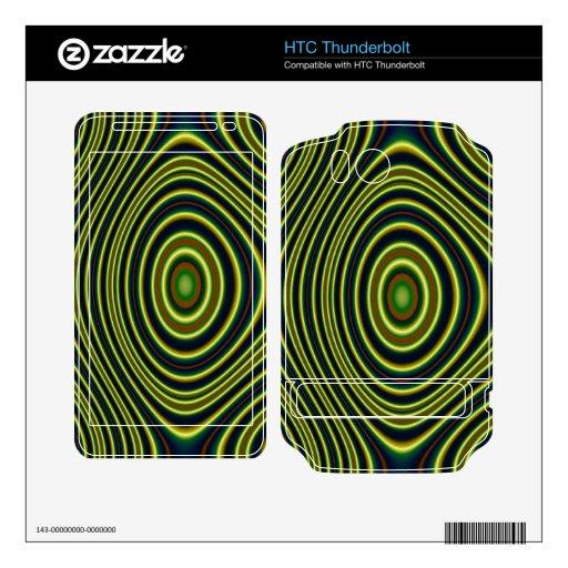 Modelo moderno colorido HTC thunderbolt calcomanías