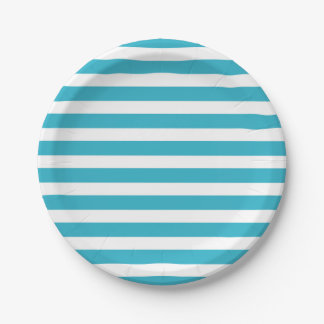 Modelo moderno colorido retro de las rayas de la plato de papel de 7 pulgadas