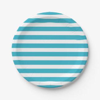 Modelo moderno colorido retro de las rayas de la platos de papel