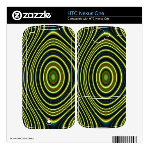 Modelo moderno colorido calcomanías para HTC nexus one