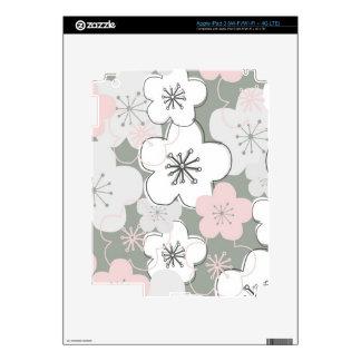 Modelo moderno de la flor de cerezo japonesa pegatinas skins para iPad 3