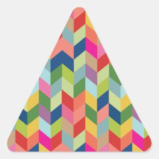 Modelo moderno de la raspa de arenque pegatina triangular