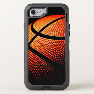 Modelo moderno de la textura de la piel de la bola funda OtterBox defender para iPhone 7