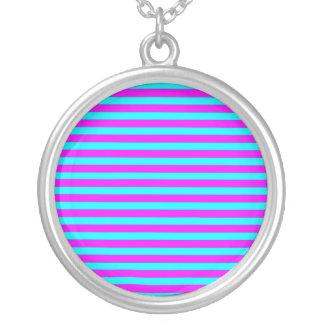 Modelo moderno de las rayas del trullo rosado de colgantes personalizados