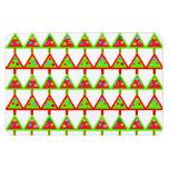 Modelo moderno de los árboles de navidad iman rectangular