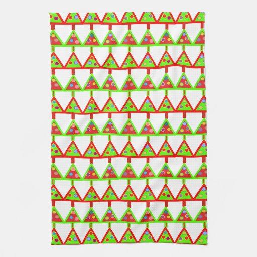 Modelo moderno de los árboles de navidad toallas de cocina