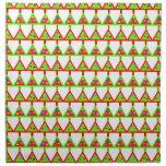 Modelo moderno de los árboles de navidad servilleta imprimida