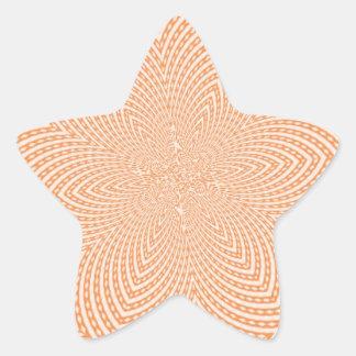 Modelo moderno de moda pegatina en forma de estrella