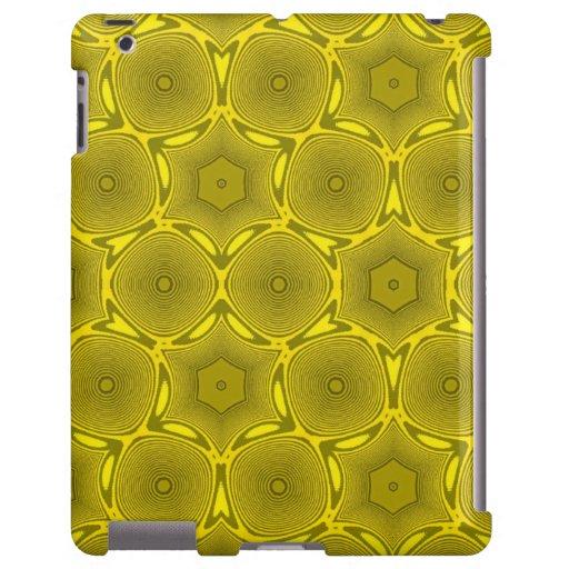 Modelo moderno del círculo amarillo funda para iPad
