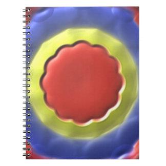 Modelo moderno del círculo libreta espiral