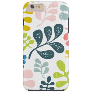 Modelo moderno del follaje de las hojas coloridas funda para iPhone 6 plus tough