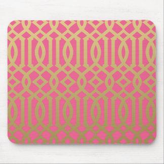 Modelo moderno del oro y del enrejado del rosa tapetes de ratones